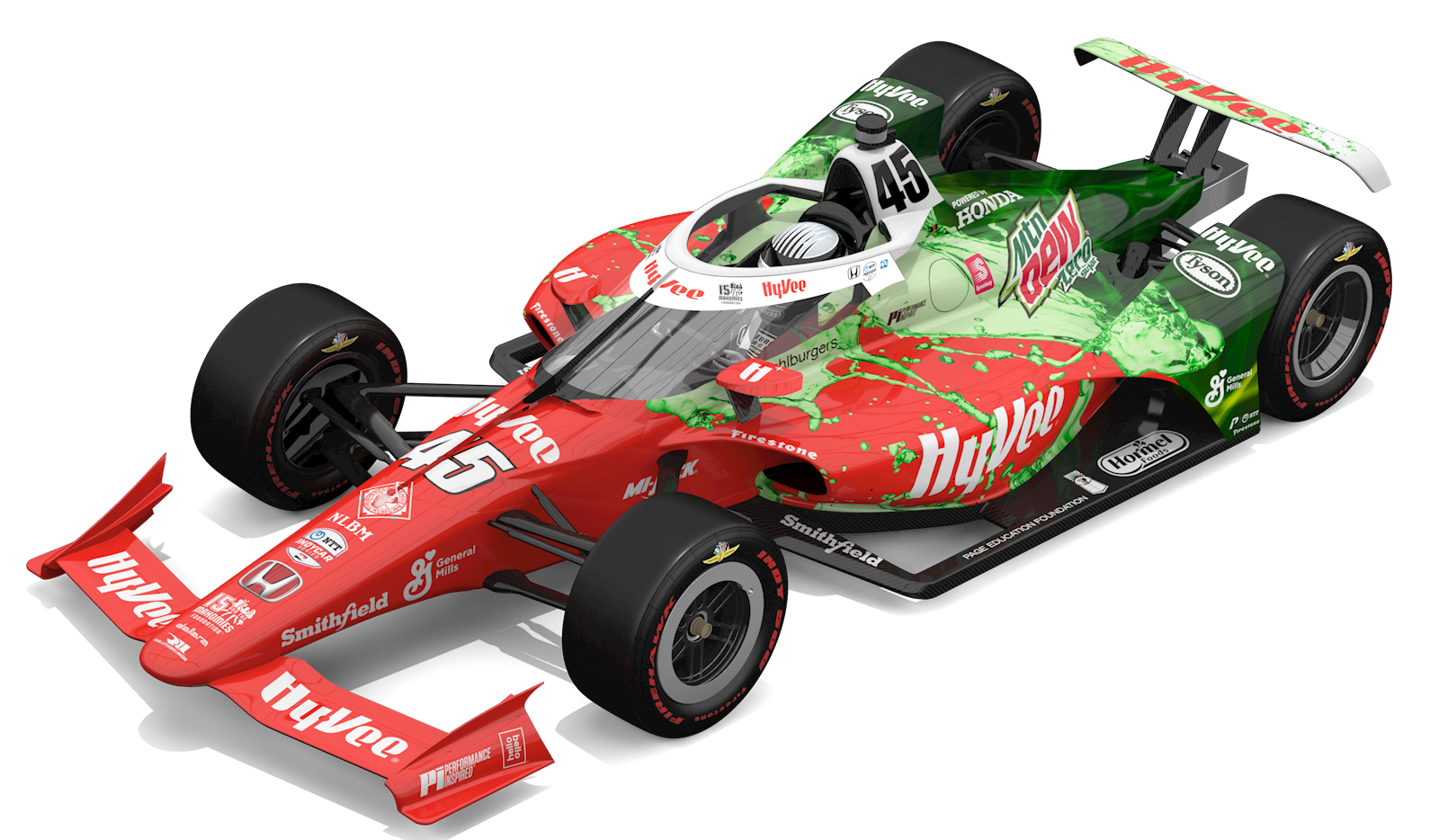 Hy-Vee-Sponsored Cars Race for the Checkered Flag in the 105th Running of the Indianapolis 500